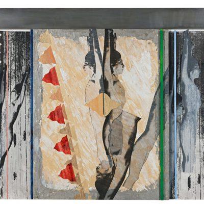 İpek Duben, 2012 #4, 2012, Akrilik, kağıt, ahşap, paslanmaz çelik, 114,5x176 cm.