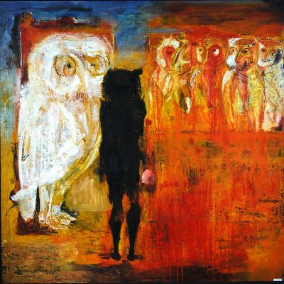 Müslüm Abbasov, Baykuş, Tuval üzerine yağlıboya, 167x170 cm.