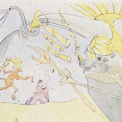Salvador Dali, Print, 50x65 cm.