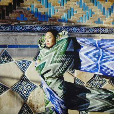 Almagul Menlibayeva, My silk road to you 2,2011, Print in light box, 36x48 (91x122).