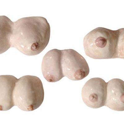 Ardan Özmenoğlu, Ceramic, 2009, 17x6x11; 18x6x12; 16x5x11; 22x7x12; 25x6x14 cm.