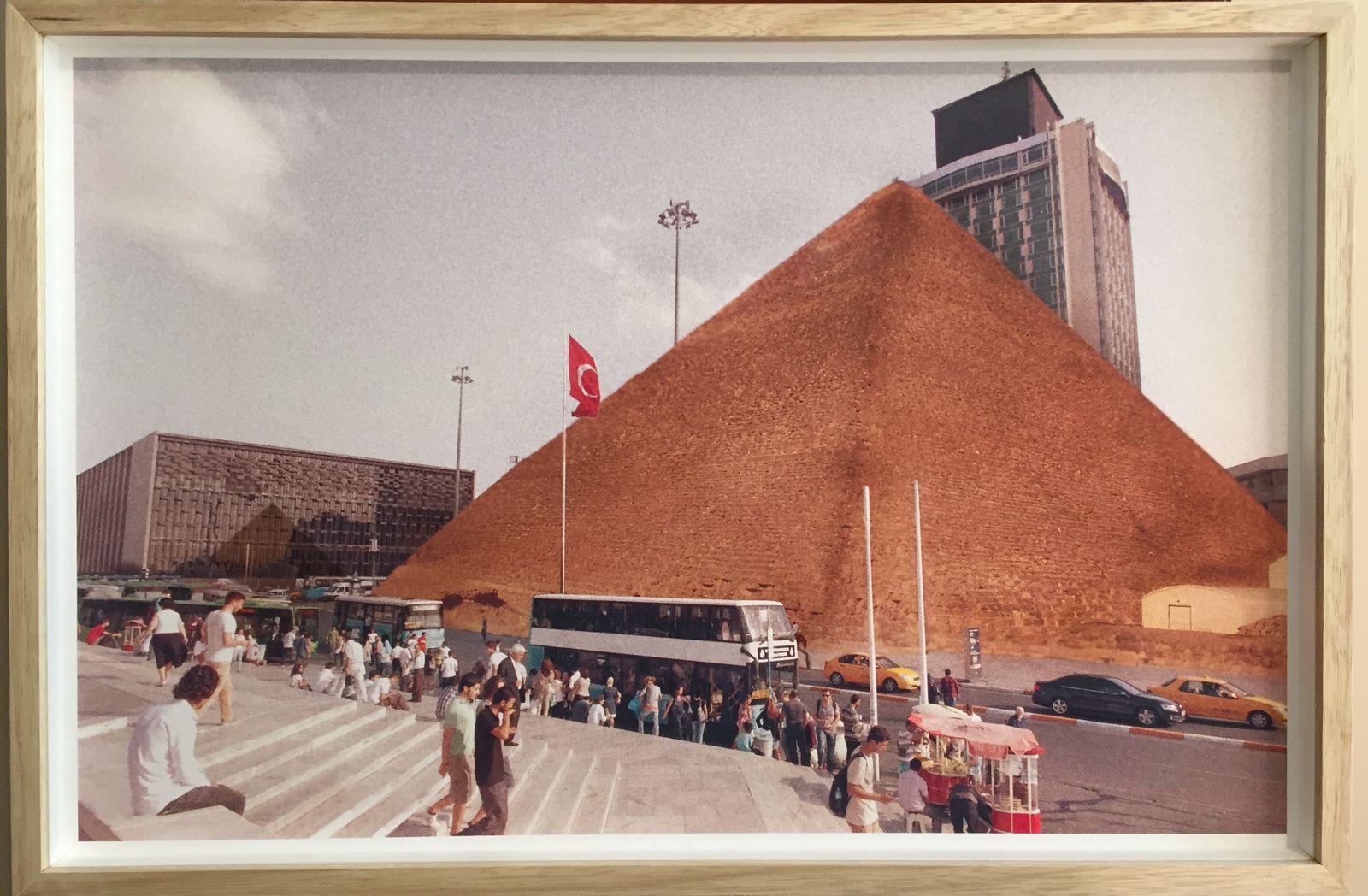 Işıl Eğrikavuk, Change Will Be Terrific! Taksim- Pyramid (Triptik), 2012, Digital print, edition 3; 1 AP, 50x32 cm.