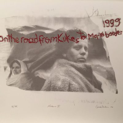 İpek Duben, Kosovar III, 2010, Screenprint 16/35, 70x50 cm.