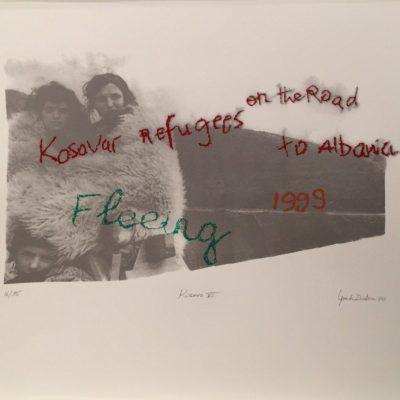 İpek Duben, Kosovar VI, 2010, Screenprint 16/35, 70x50 cm.