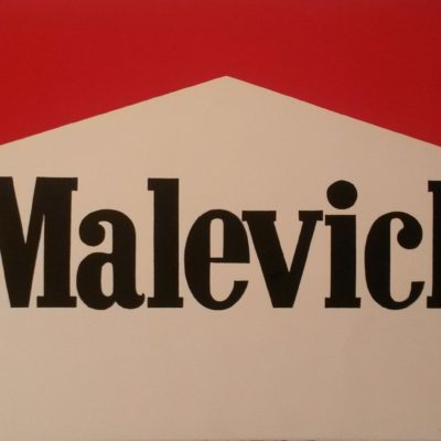 Alexander Kosolapov, Malevich Marlboro, Kağıt üzerine ipek baskı 22/25 (A.P.), 57.2x81,3 cm.