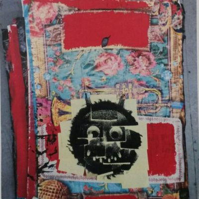 Ardan Özmenoğlu, The Monster Called Curator, 2015, Collage on street posters and silkscreen on post-it notes, 63x82cm.