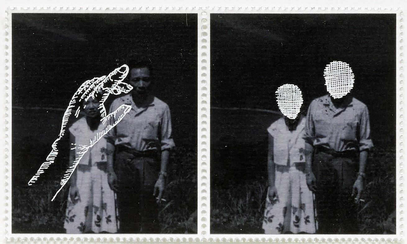 Hiraki Sawa, iota/no.9, 2016, Hahlemühle arşiv kağıdı üzerine beyaz mürekkepli kalem ve Gicleé baskı, 30x36 cm. (çerçeveli ölçü)