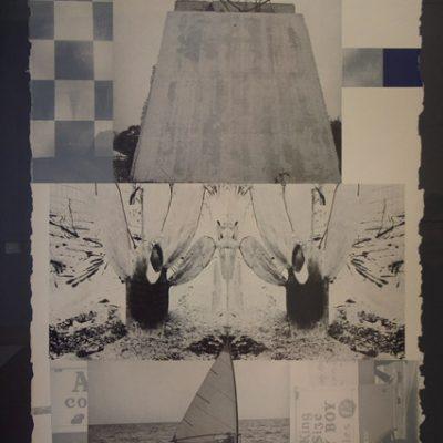 Robert Rouschenberg, Rookery Mounds-Crystal, 1979, Litograph (30/55), 103x78 cm.