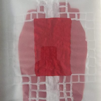 Susan Hefuna, Red Thought, 2014, watercolor on tracing paper, 30x23 cm.