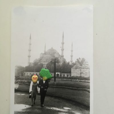 Volkan Aslan, My Revered Elders, 2016, Photo collage (unique), 28x22 cm.