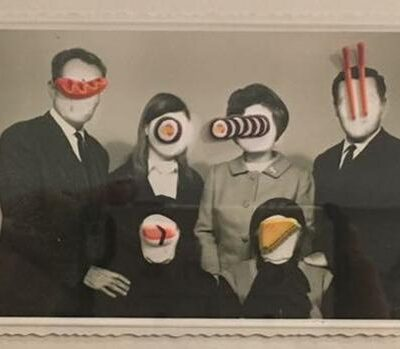 Volkan Aslan, My Revered Elders, 2016, Photo collage (unique), 22x28 cm.