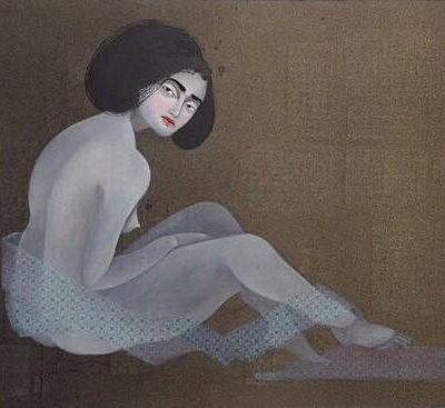 Hayv Kahraman, 2017, Mixed media on canvas, 107x173 cm.