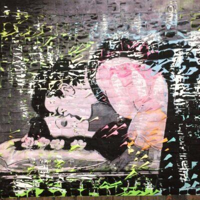 Ardan Özmenoğlu, 21 grams, 2015, silkscreen and painting on post it notes, 95x117 cm.
