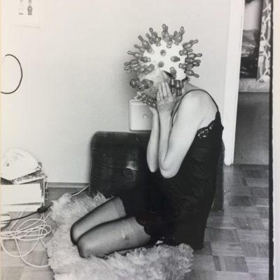 Renate Bertlmann, Tender Pantomime 1, 1976, BW photograph (vintage), 17.8x12.6 cm. ©Renate Bertlmann