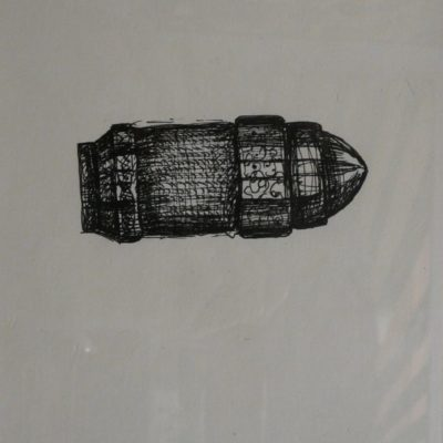Shahpour Pouyan, Unknown Objects 2, 2012, Mixed media on paper, 40x30 cm.