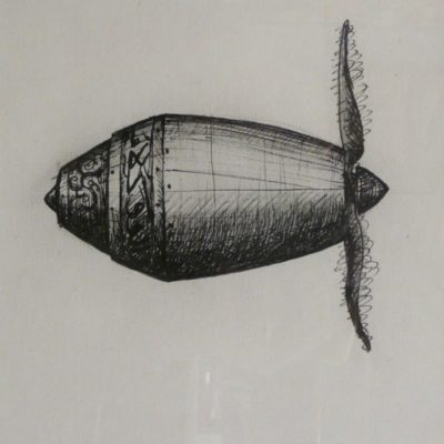 Shahpour Pouyan, Unknown Objects 4, 2012, Mixed media on paper, 40x30 cm.