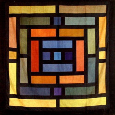 Chant Avedissian, Uzbek wood, Hand-dyed cotton, 160x160 cm.