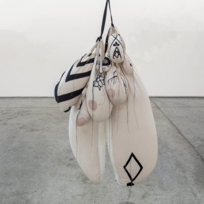 Hoda Tawakol, Lure #10, 2015, Fabric and styrofoam, 117x76x67 cm.