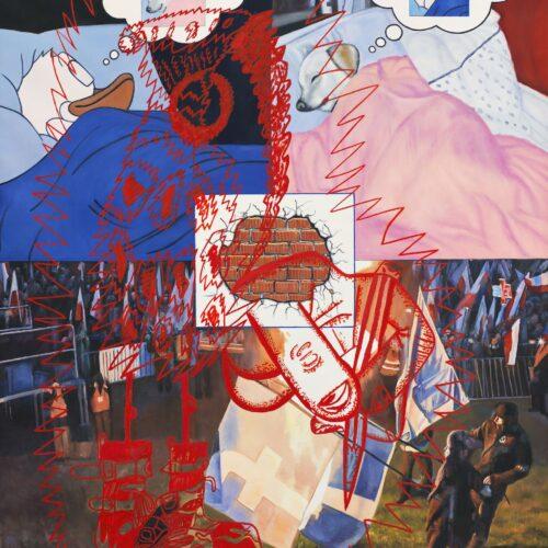 Bora Akıncıtürk, Only in My Dreams, 2019, Tuval üzerine yağlıboya, 200x160 cm.