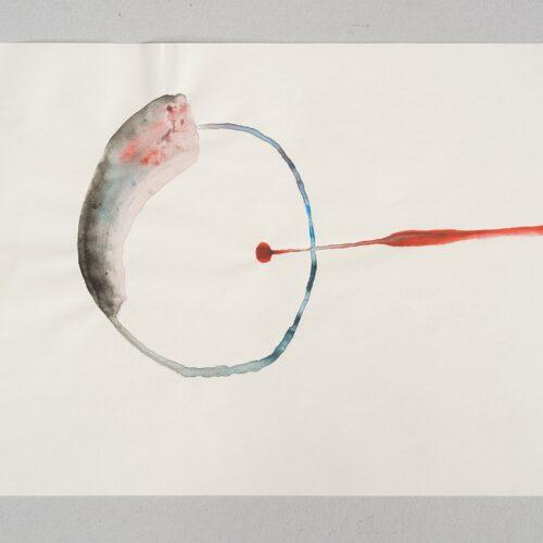 İz Öztat, In the Rivers North of the Future, 2014-2017, Watercolour on paper, 37x27 cm.