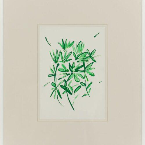 Ayşe Erkmen, Flowers and Leaves 11, 2014, Kağıt üzerine mürekkep, 43x37 cm