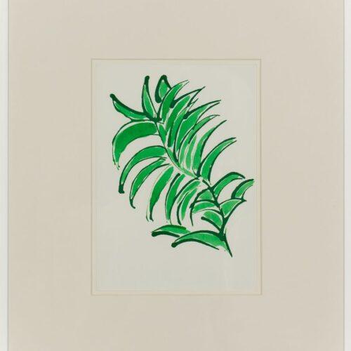 Ayşe Erkmen, Flowers and Leaves 2, 2014, Kağıt üzerine mürekkep, 43x37 cm