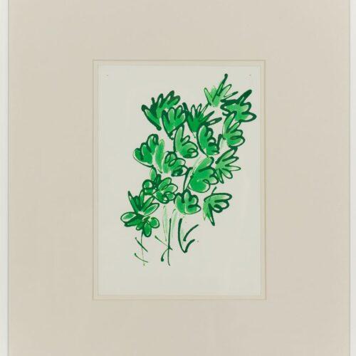 Ayşe Erkmen, Flowers and Leaves 5, 2014, Kağıt üzerine mürekkep, 43x37 cm