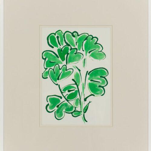 Ayşe Erkmen, Flowers and Leaves 8, 2014, Kağıt üzerine mürekkep, 43x37 cm