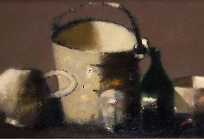 Tebriz Abdullayev, Oil on canvas, 64x131 cm.