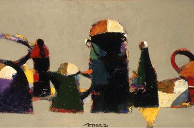 Tebriz Abdullayev, Tuval üzerine yağlıboya, 70x150 cm.