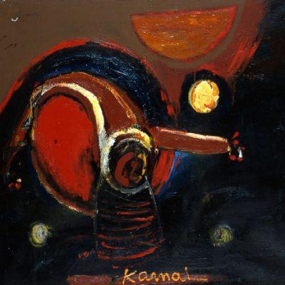 Kemal Ahmedov, 1987, Tuval üzerine yağlıboya, 100x120 cm.