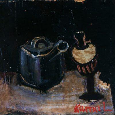 Kemal Ahmedov, 1987, Tuval üzerine yağlıboya, 51x55 cm.