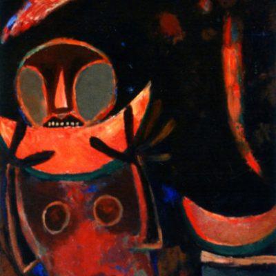 Kemal Ahmedov, 1992, Tuval üzerine yağlıboya, 90x80 cm.