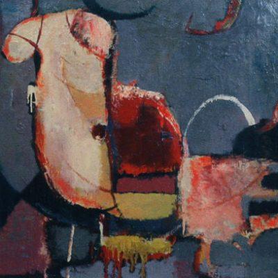 Kemal Ahmedov, 1984, Tuval üzerine yağlıboya, 100x100 cm.