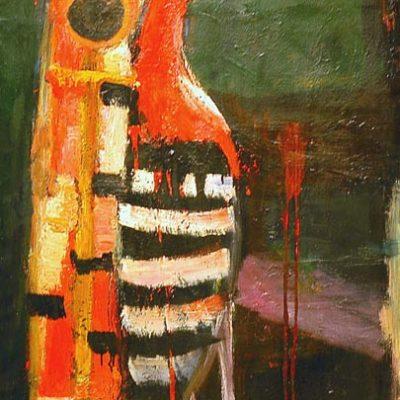 Kemal Ahmedov, Oil on canvas, 110x75 cm.