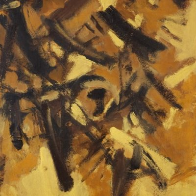 Fethi Arda, Abstract composition, 1966, Oil on canvas, 89,5x63 cm.