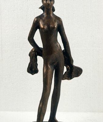 Akif Askerov, Nude with scarf, Bronze, 63x18x15 cm