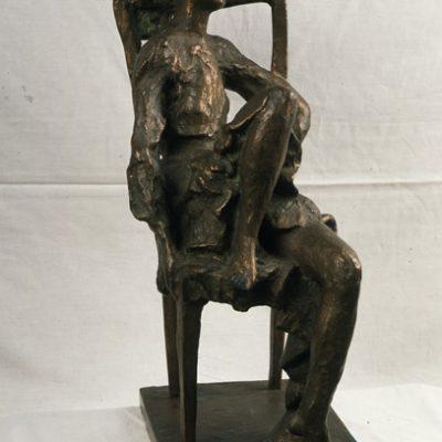 Akif Askerov, My Daughter, Bronze, 50x25x19 cm