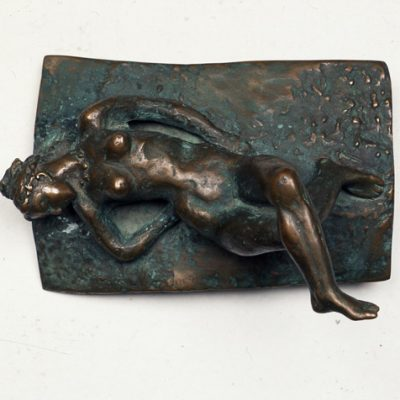 Akif Askerov, Sun bathing, Bronze, 30x17x17 cm.