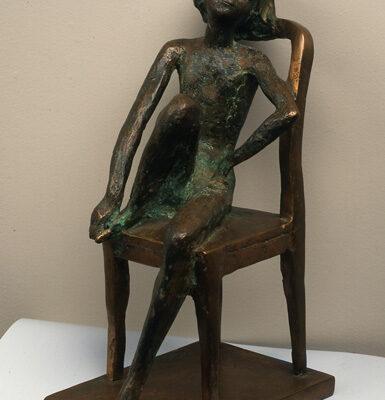 Akif Askerov, Day Dreaming, Bronze, 33x18x13 cm.