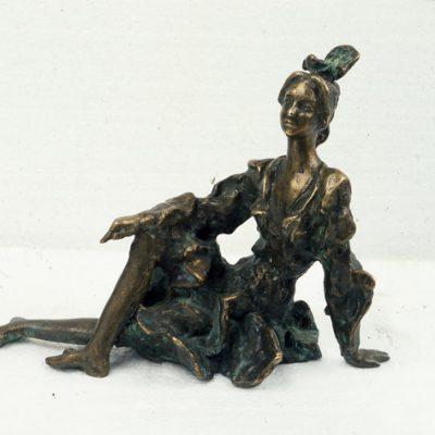 Akif Askerov, Dancer, Bronz, 28x40x18 cm.