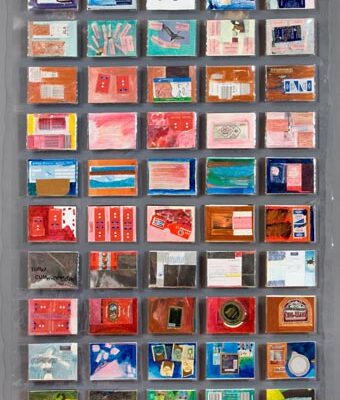 Tomur Atagök, Diaries from Turkish speaking countries, 2002, Mixed media, 163 x 90 cm.