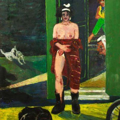 Resul Aytemür, Balo Street Beyoğlu, 2003, Oil on canvas, 140x115 cm.
