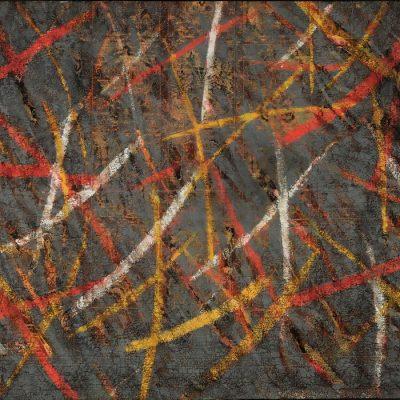 Muhamed Bajramovic, 1988, Oil on carpet, 138x192 cm.