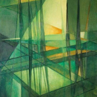 Ferruh Başağa, 1990, Oil on canvas, 160x100 cm.