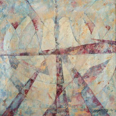 Ferruh Başağa, 1973, Oil on canvas, 60x60 cm.
