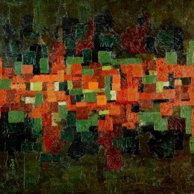 Ferruh Başağa, 1962, Oil on canvas, 67x67 cm.