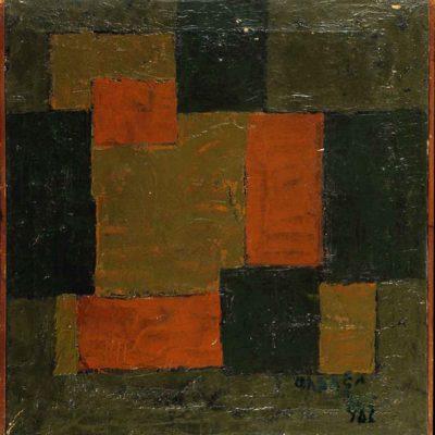 Ferruh Başağa, 1962, Oil on canvas, 44x46 cm.