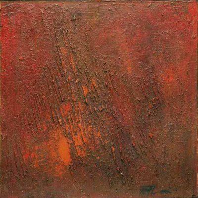 Ferruh Başağa, 1962, Oil on hardboard, 50x50 cm.