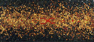Ferruh Başağa, Mozaik pano, 45x150 cm.